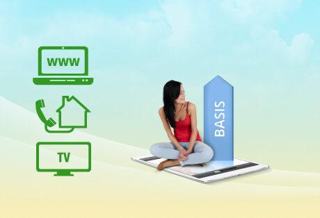 Internet, Telefon und Fernsehen
