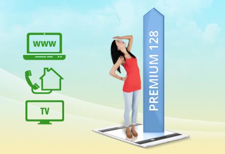Internet 128.000 und Fernsehen digital