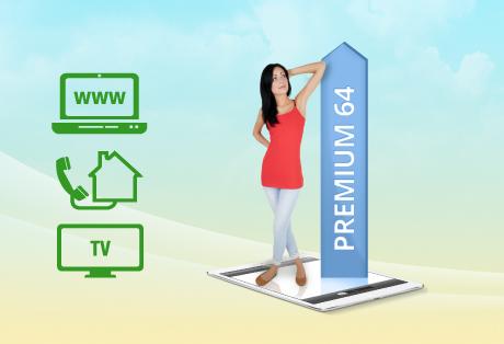 Internet 64.000 und Fernsehen digital